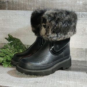 Ariat fatbaby tough tread fur topped boots